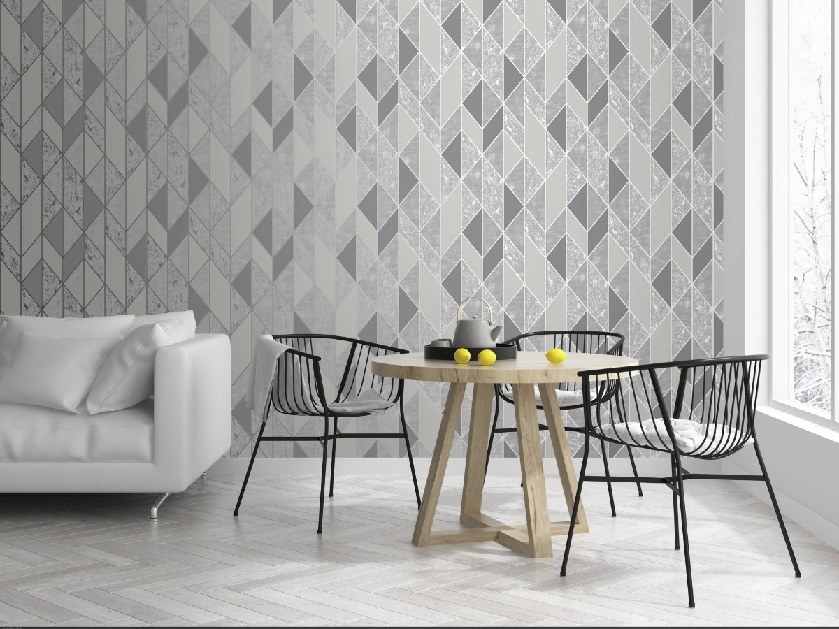 Graham And Brown Milan Geo Wallpaper Decorhom