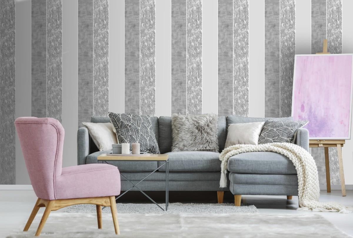 Graham and Brown Milan Stripe Wallpaper - Decorhom