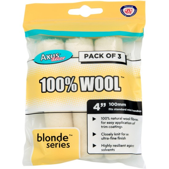 Axus Blonde Mini Roller Sleeve 3 Pack