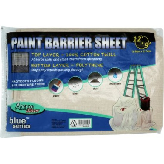 Axus Blue Paint Barrier Sheet 3.66m x 2.74m