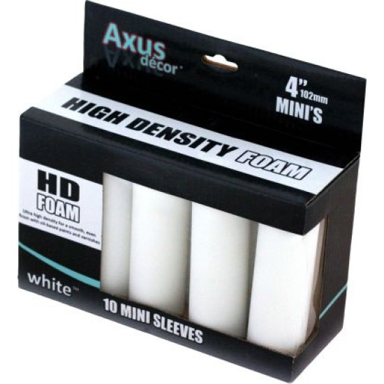 Axus White HD Foam Mini Roller Sleeve