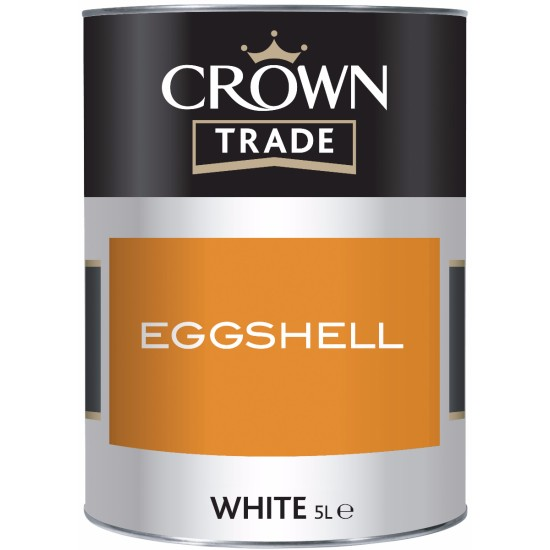 Crown Trade Eggshell Paint White