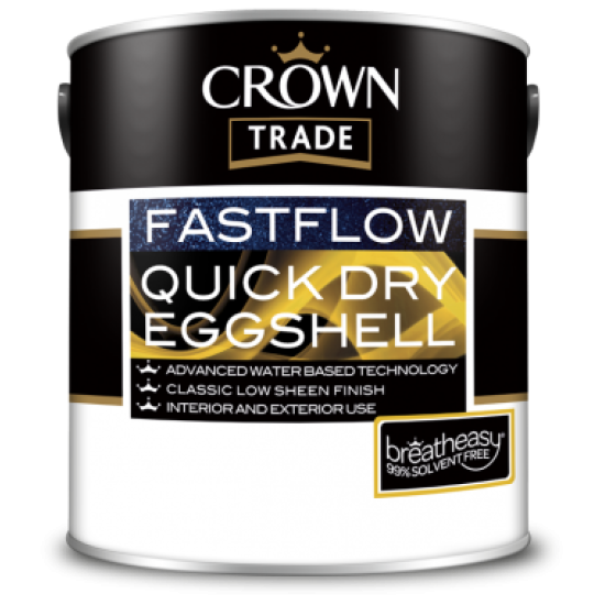 Crown Trade Fastflow Quick Dry Eggshell Paint