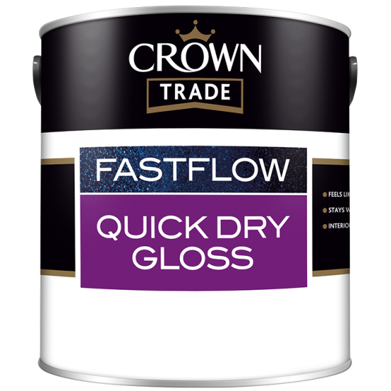 Crown Trade Fastflow Quick Dry Gloss Paint