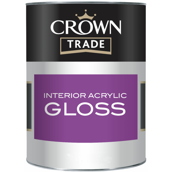 Crown Trade Interior Acrylic Gloss Paint Colour