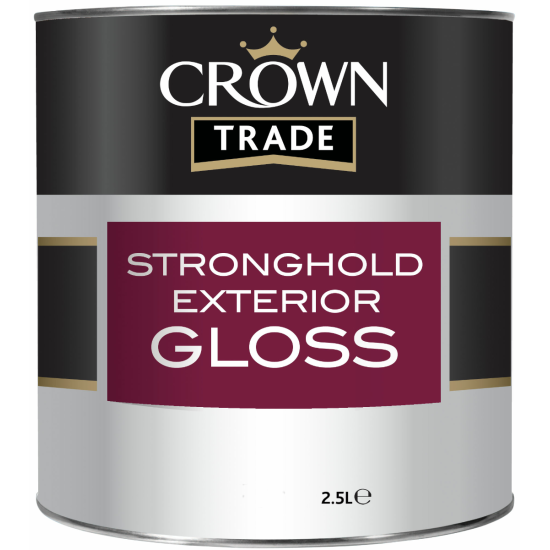 Crown Trade Stronghold Exterior Gloss Paint Colours