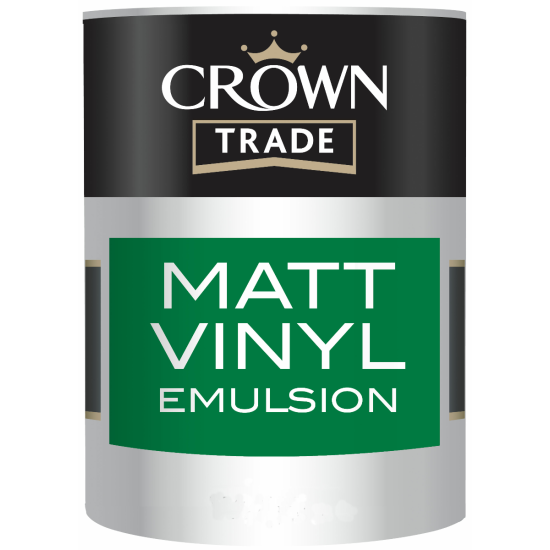 Crown Trade Vinyl Matt Paint 5lt Colours
