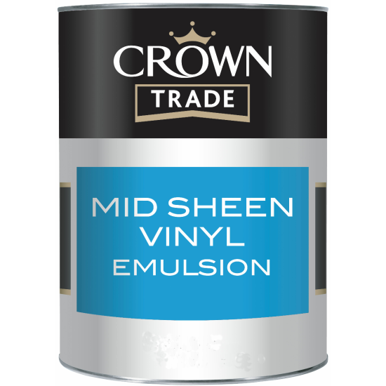Crown Trade Vinyl Mid Sheen Paint 2.5lt Colours