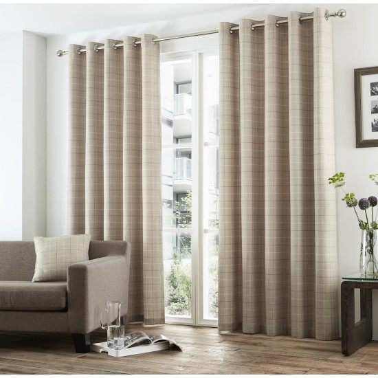 Curtina Braemar Check Eyelet Curtains