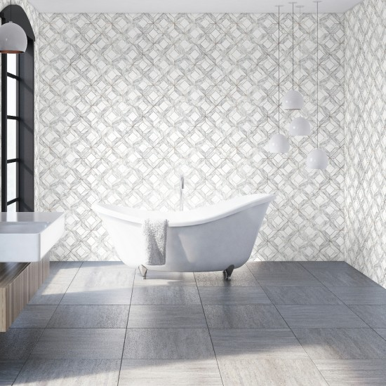 Graham and Brown Contour Marble Marquetry Wallpaper