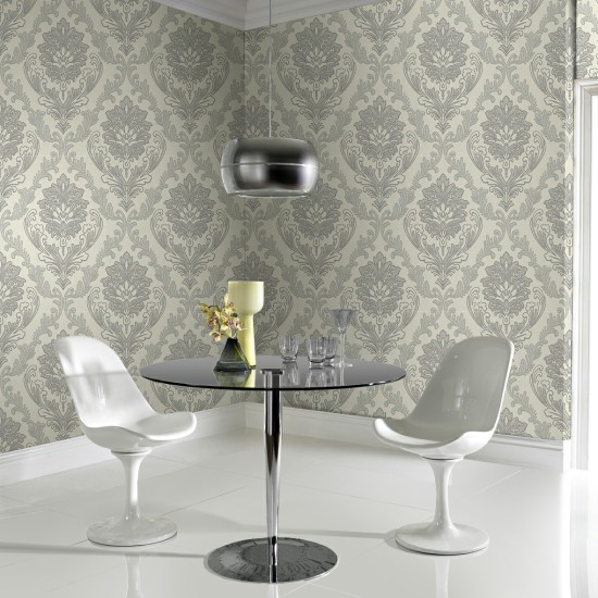 Graham and Brown Corsetto Damask Wallpaper