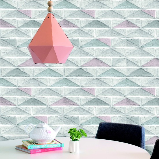 Graham and Brown Geo Brick Wallpaper