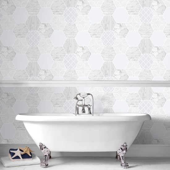 Graham and Brown Hexagonal Marble Wallpaper