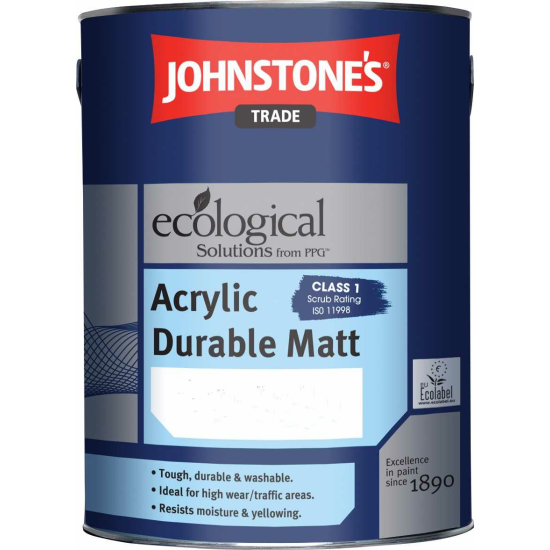 Johnstones Trade Acrylic Durable Matt Paint Colours 5lt