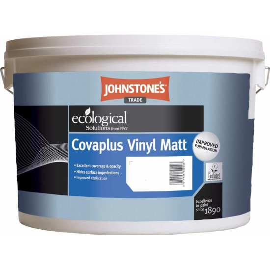 Johnstones Trade Covaplus Vinyl Matt Paint Colours 1lt