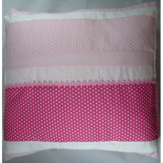 Pure Opulence Kids Alexis Cushion Pink/White