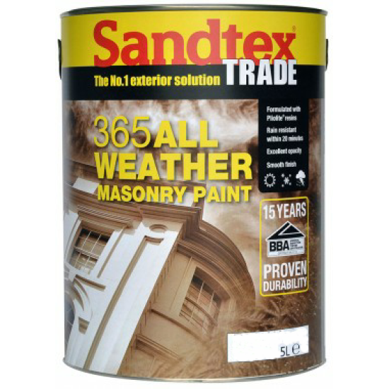 Sandtex Trade 365 All Weather Masonry Paint 5lt Colours